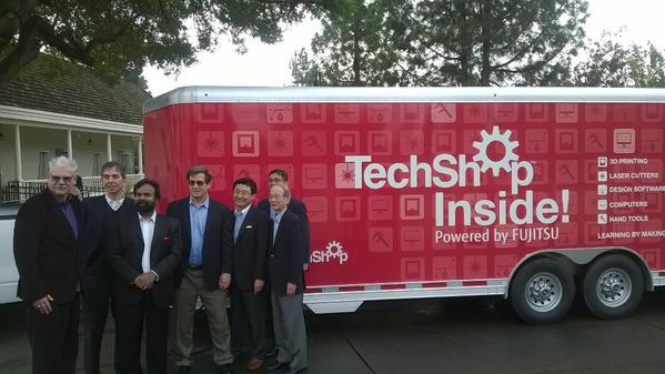 Photo of the TechShop Inside trailer by Twitter user @oalexy