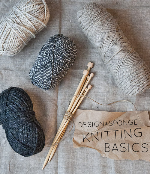 Knitting Basics Getting Started : Diy in the new year knitting basics make