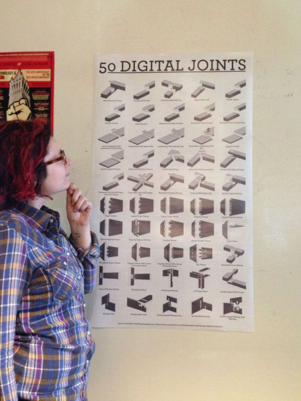 50 Digital Wood Joints Poster Make