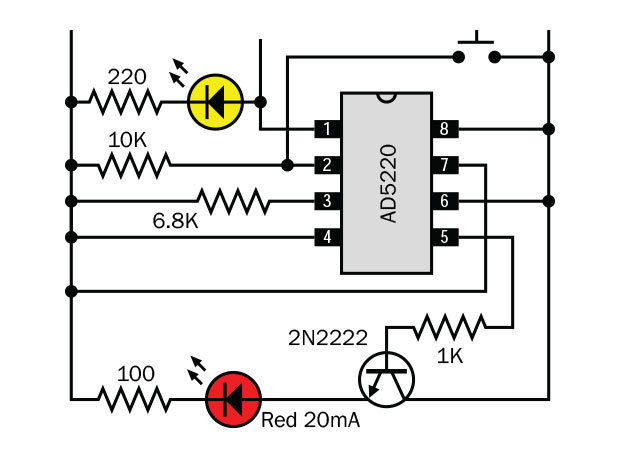 how to use digital potentiometers to control light and sound