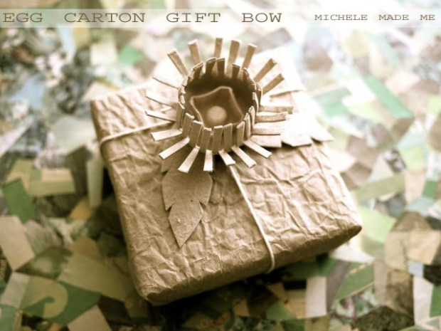 Egg Carton Gift Bow Tutorial Michele Made Me
