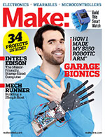 For more on microcontrollers and wearables, check out Make: Volume 42.  Don't have this issue? Get it in the Maker Shed.