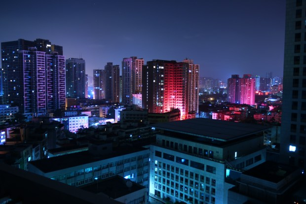 A long exposure shot from my friend's apartment in Luohu