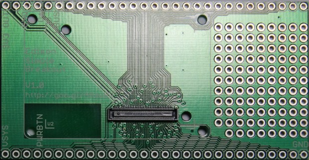 70-pin connector on an Edison breakout board