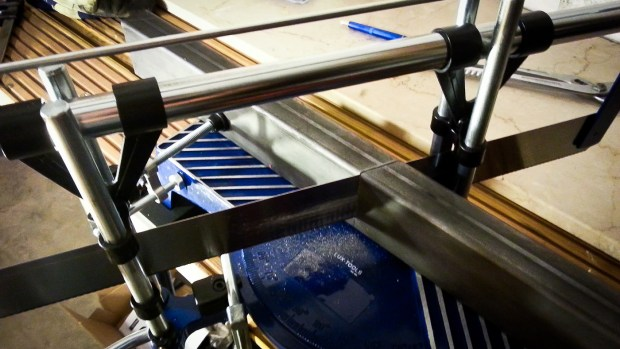 Cutting steel using muscle-powered hand tools may not be ideal, but it gets the job done.