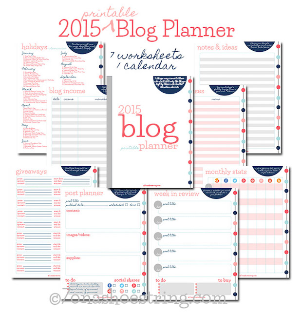 graphic regarding Blog Planner Printable known as Crafter Applications: Printable 2015 Blog site Planner Crank out: