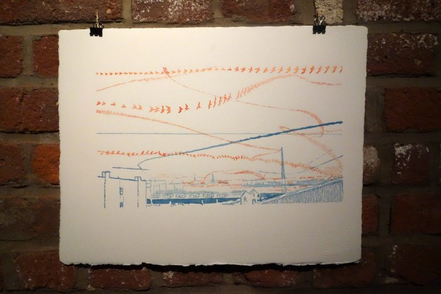 Flight Lines by Ellie Irons, Dan Phiffer turned time-lapse frame-by-frame images into quite pleasant watercolor paintings.
