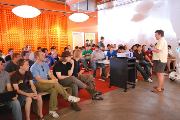 Paul Graham talking about Prototype Day at Y Combinator (Credit: Kevin Hale)
