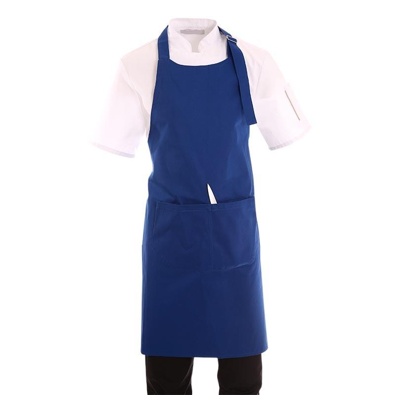 tablier de cuisine a bavette bleu royal toptex