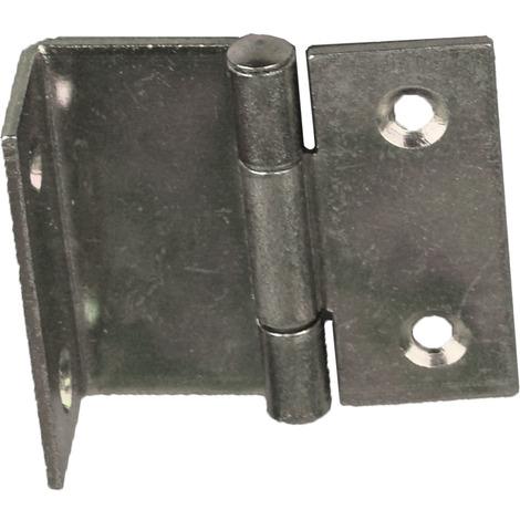 2 charnieres coudees pour meuble 40x16 mm acier nickele