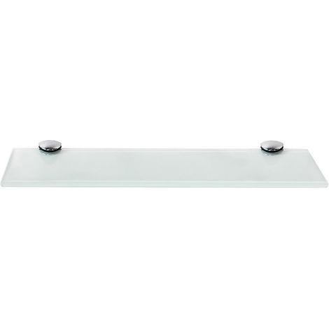 30x10cm tablette en verre blanc support de tablette en verre tablette murale tablette de salle de bains tablette d etagere en verre