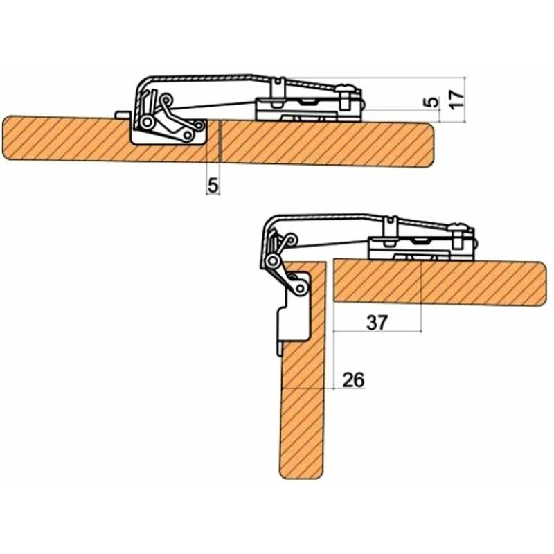 4 charnieres invisibles 90 pour porte de meuble d angle