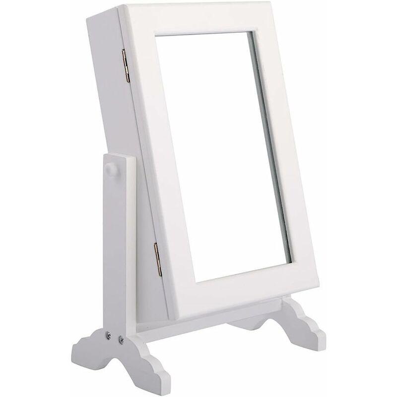 Armoire A Bijoux Sur Pied Avec Miroir Accesoires Rangement Collier Coffre A Miroir 6971664980011