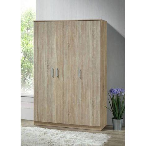 armoire contemporaine chene clair 120 cm oceane