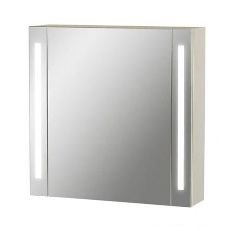 Armoire De Toilette Led Modele La Contemporaine 60 Cm X 60 Cm Hxl Blanc 3283427364529