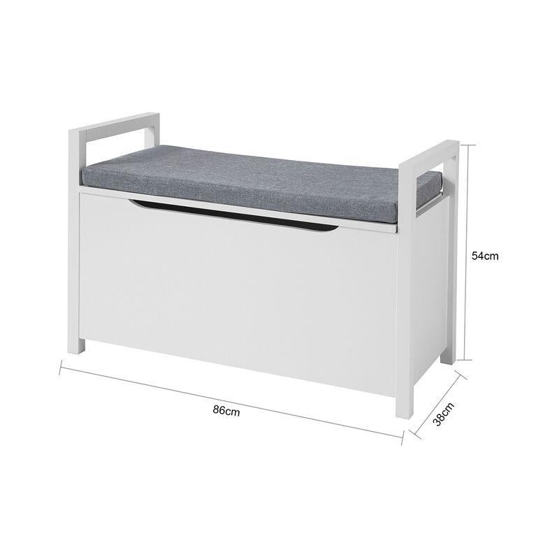 banc de rangement meuble bas entree avec coussin rembourre rangement jouets pour enfants sobuy fsr76 w