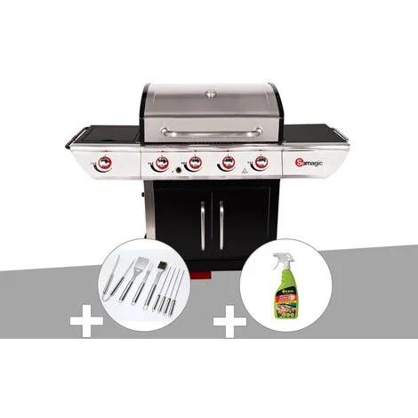 barbecue inox gaz avec plancha a prix mini