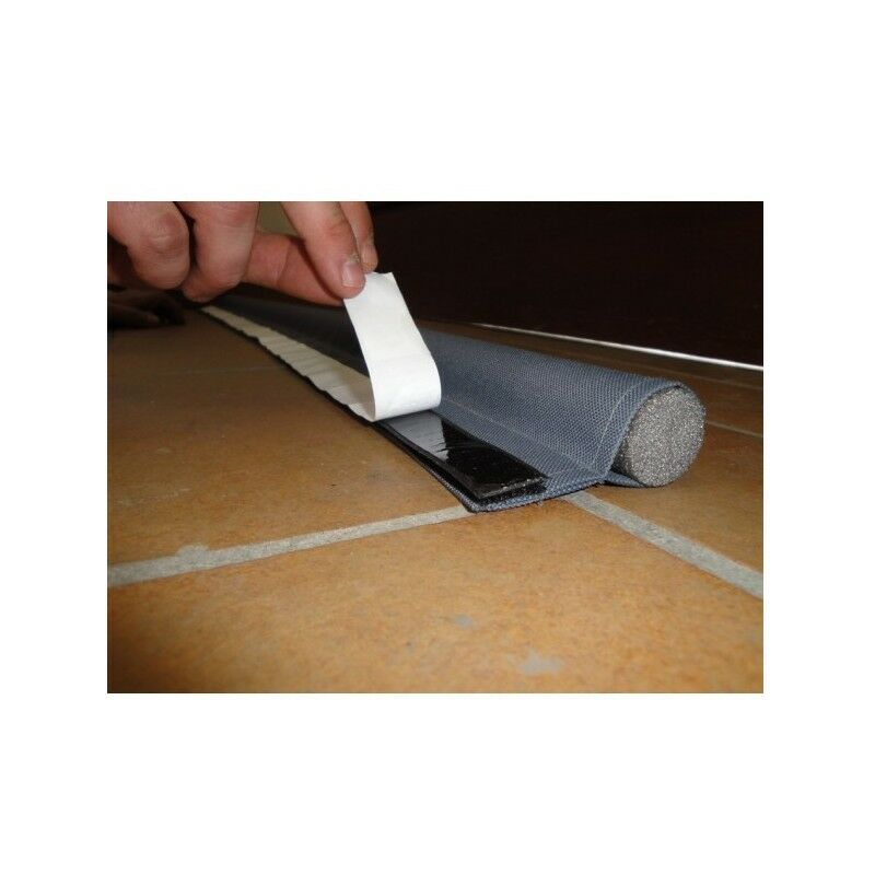 bas de porte adhesif simple boudin gris