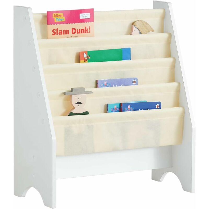 bibliotheque etagere a livres pour enfants porte revues 4 compartiments frg225 w sobuy