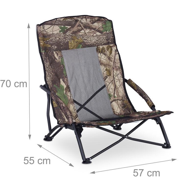chaise de plage pliable chaise de camping fauteuil pliant peche pique nique 100 kg relax 70x57x55 cm vert