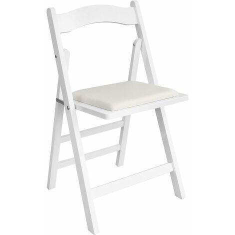 chaise pliante avec assise rembourree chaise pliable pour cuisine bureau salon en bois naturel du bois fst06 n sobuy
