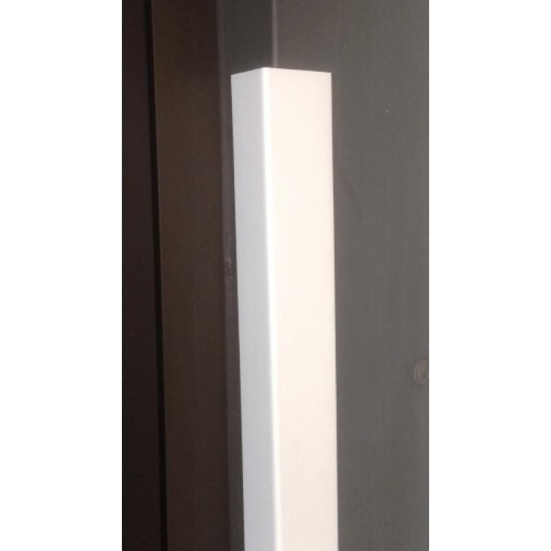 corniere inegale profil en l asymetrique pvc longueur 2 6m finition blanc 30 x 70mm