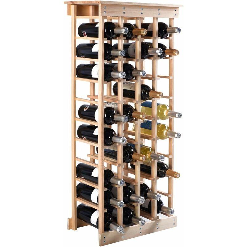 https www manomano fr p etagere a vin casier a 44 bouteilles en bois de pin robuste modulable 465 x 275 x 113 cm 12799270