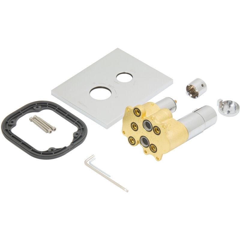 Duschsystem Thermostat Regendusche Set Komplett Fertigmontage Dusche Pgsetbtw30