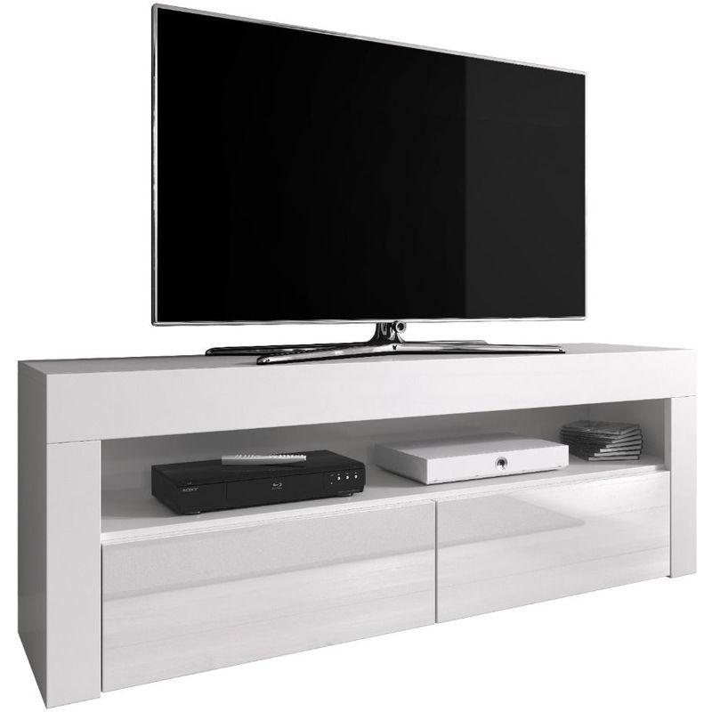 e com meuble tv armoire tele table television luna 140 cm noir