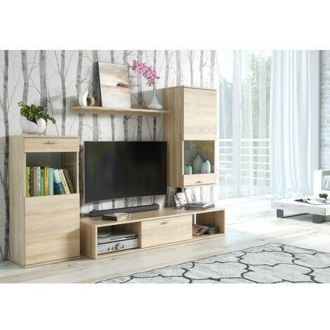 meuble tv suspendu bois a prix mini