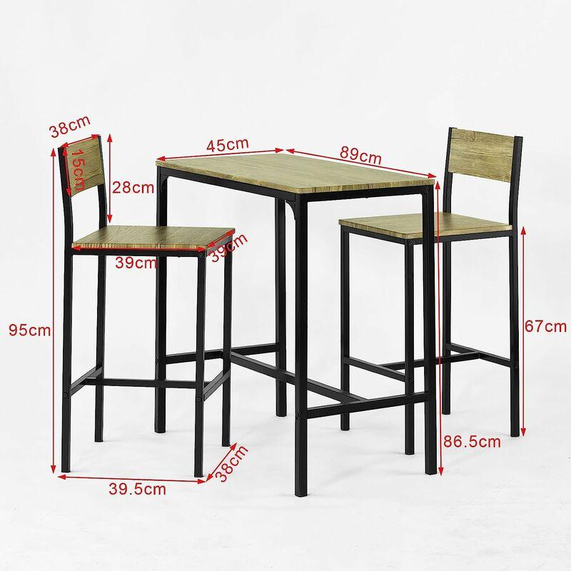 ensemble table de bar 2 chaises set de 1 table 2 chaises table haute cuisine sobuy ogt03 n