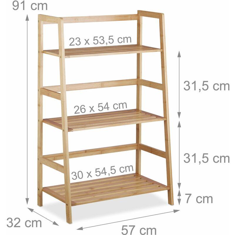 Etagere Sur Pied En Bambou 3 Armoire Etages Salle De Bain Salon 91 Cm 3213097