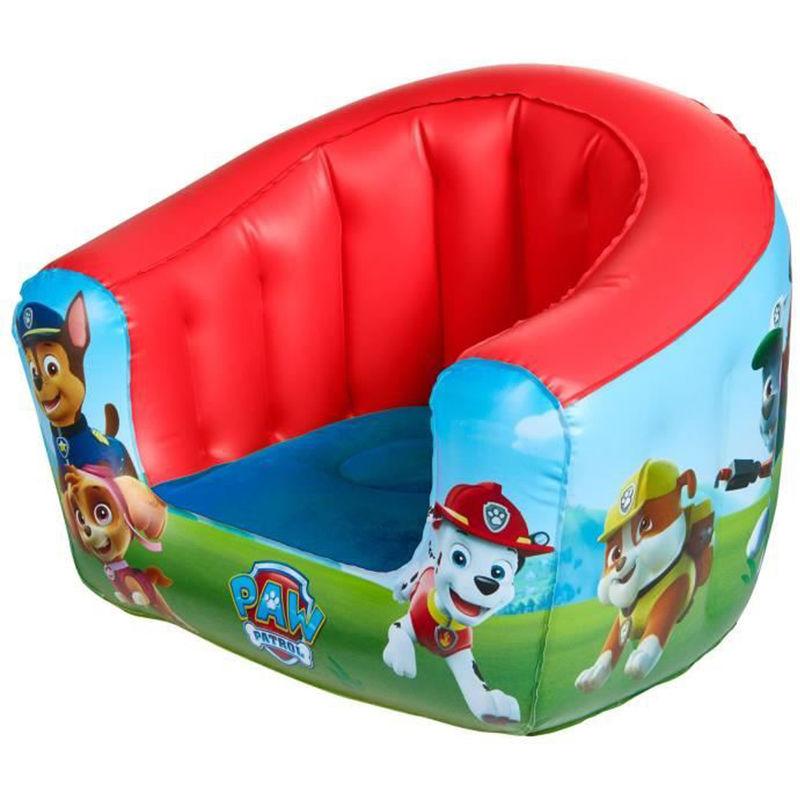 fauteuil gonflable pour enfants motif la pat patrouille dim 35 x 42 x 38 cm pegane