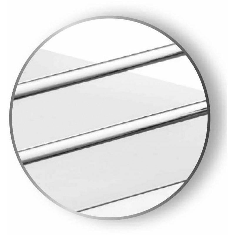 ferrure d angle pour meuble bas droit fly moon complet charge 20 kg decor blanc fil chrome dimensions corbeille 816 x 434 x 86 mm