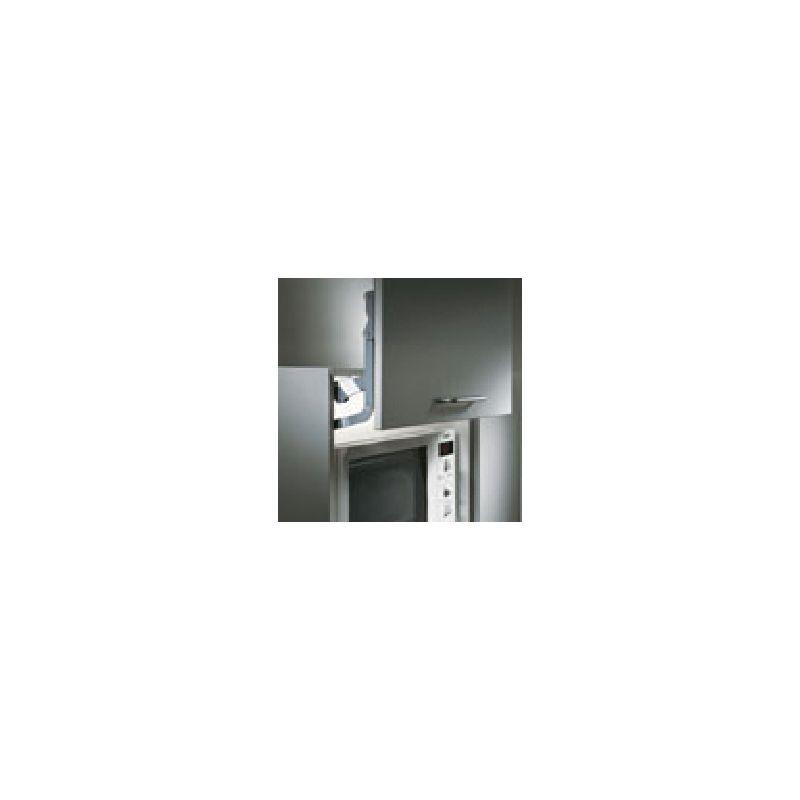 ferrure porte relevante micro ondes 2 verrins blanc pour caisson de 600mm lmc fer502012bl