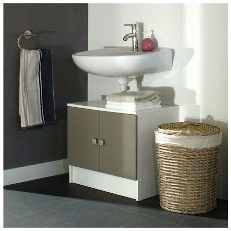 Meubles Lavabos Bricolage Meuble Vasque Integree Corail Meuble Sous Lavabo L 60 Cm Meuble Sous Vasque Blanc Laque