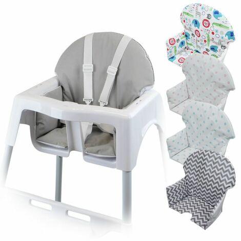Housse D Assise Pour Chaise Haute Bebe Enfant Gamme Delice Gris