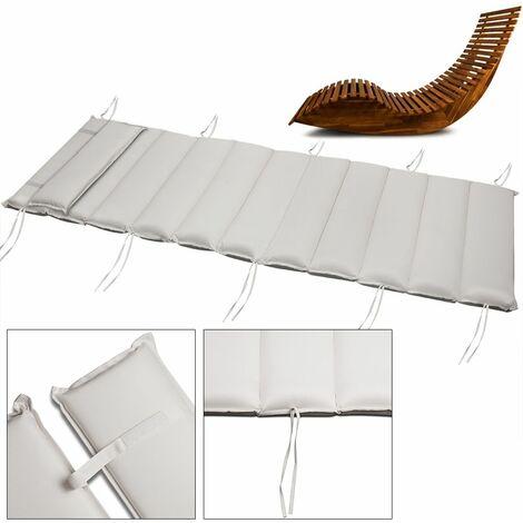matelas coussin pour chaise de sauna rembourre banc de sauna chaise longue creme