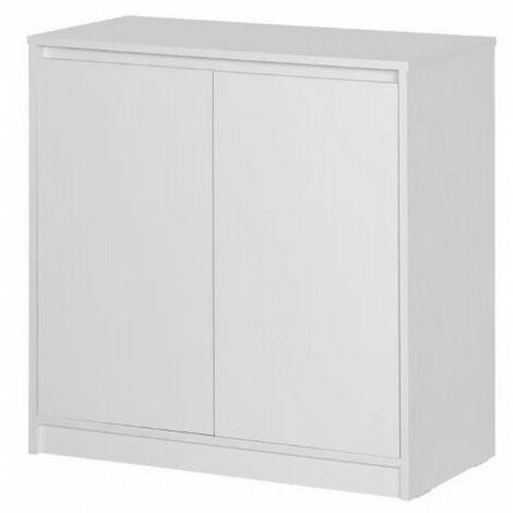 armoire basse wood grain gris 240872
