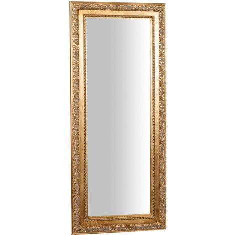miroir mural a accrocher suspendu vertical horizontal l35xpr2xh82 cm finition or antique