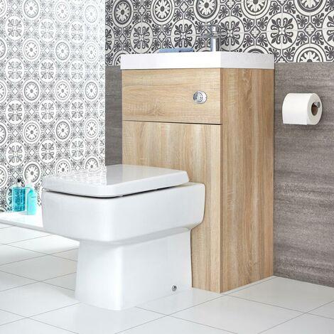 wc avec lave main chene