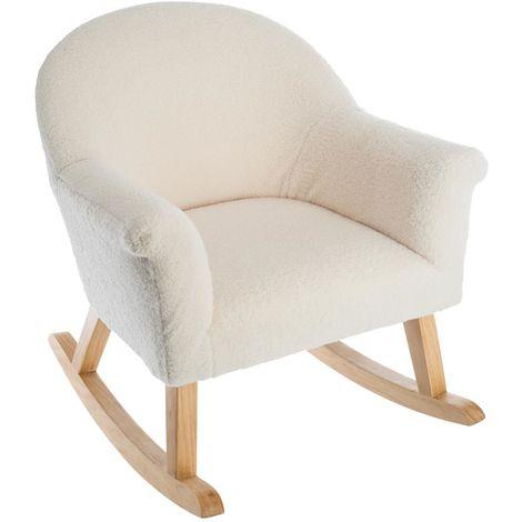 fauteuil pour enfant blanc l 51 x l 55 5 x h 57 cm pegane