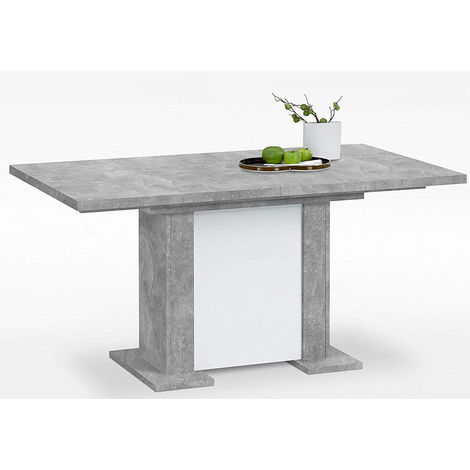 table a manger extensible en gris beton