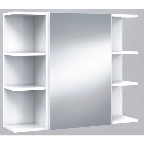 Set De Element Haut De Salle De Bain Avec Miroir Etageres D Angle 20 Cm 27for 305082bo 1