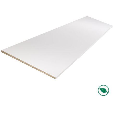 Tablette Melamine Blanc 2500 X 600 X 18 Mm Pefc 75