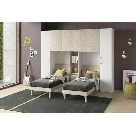Dmora Chambre A Pont Avec Deux Lits Simples Made In Italy Cm 313 X 212 X