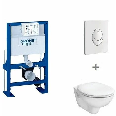 pack wc suspendu hauteur reduite grohe abattant standard