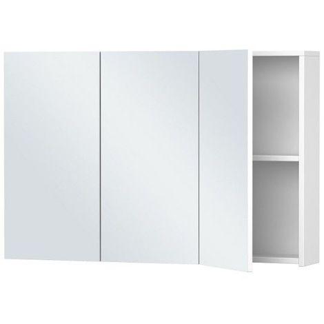 armoire de toilette blanche 3 portes 60 cm x 90 cm hxl blanc