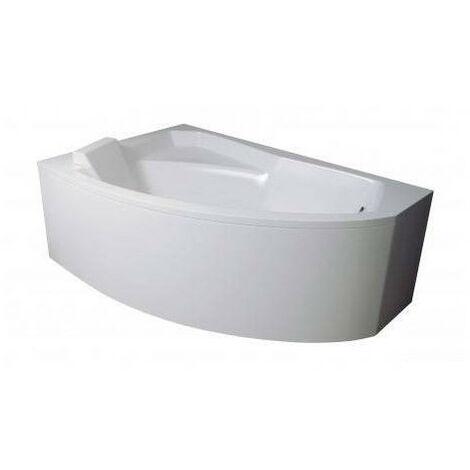 baignoire d angle gauche rima 130 140 150 160 170 cm avec tablier dimensions 130cm blanc