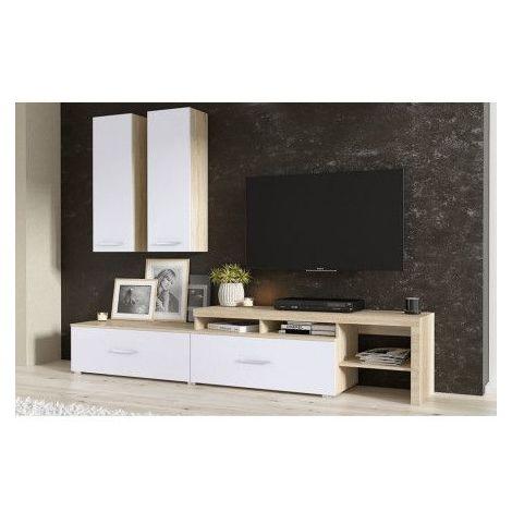 ensemble meuble tv nel blanc